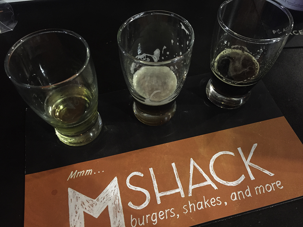 Beer tasting at M Shack in Jacksonville FL #onlyinjax
