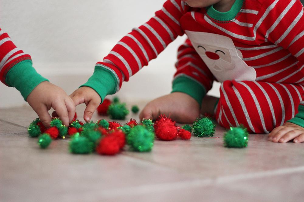 boys-doing-their-sensory-craft-for-christmas