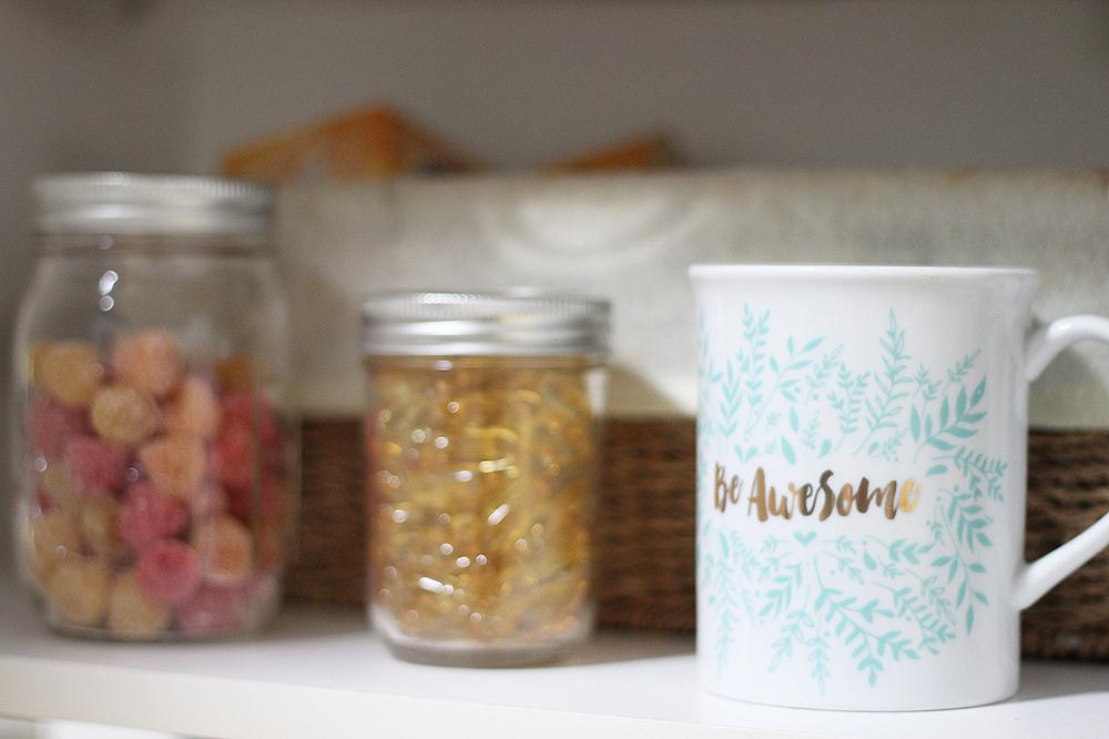vitamins in mason jars