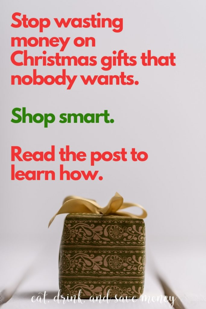 Stop wasting money on Christmas presents. #christmas #savemoney