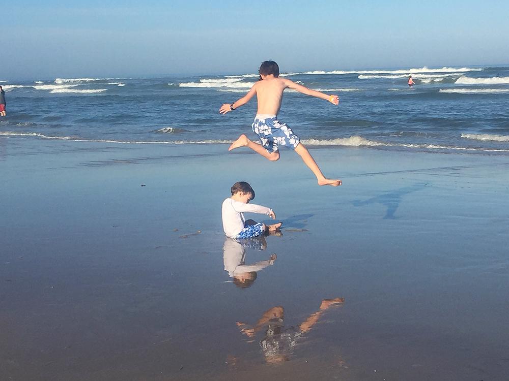 Charlie and Robert playing in Daytona Beach