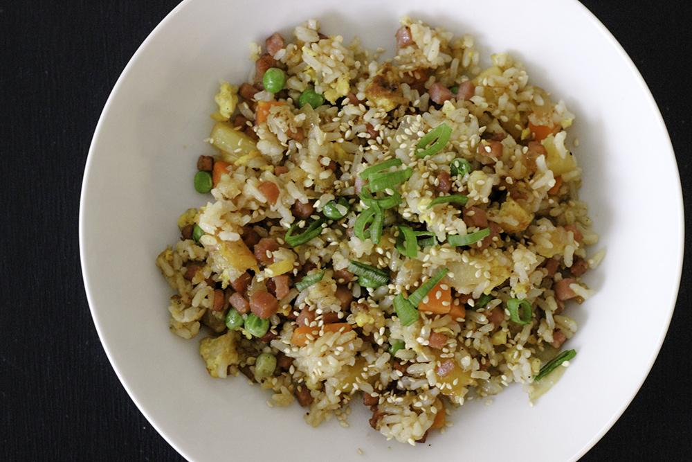 Easy recipe for pineapple pork fried rice