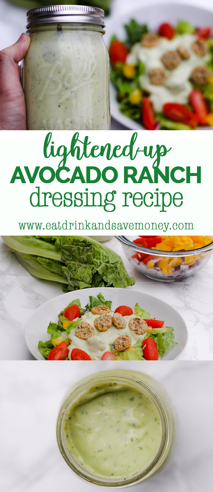 Lightned-up avocado ranch dressing recipe