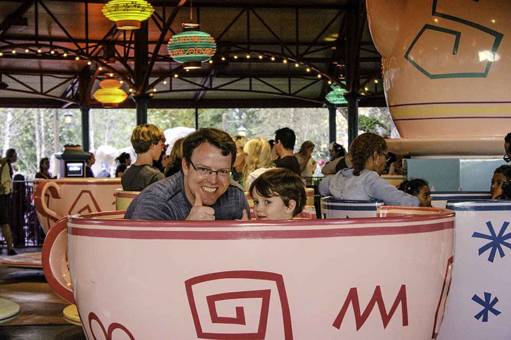Robert and Tom in teacups at Disney