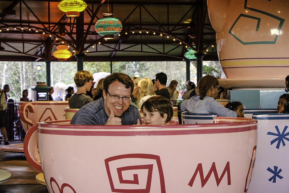 Robert and Tom in teacups at Disney