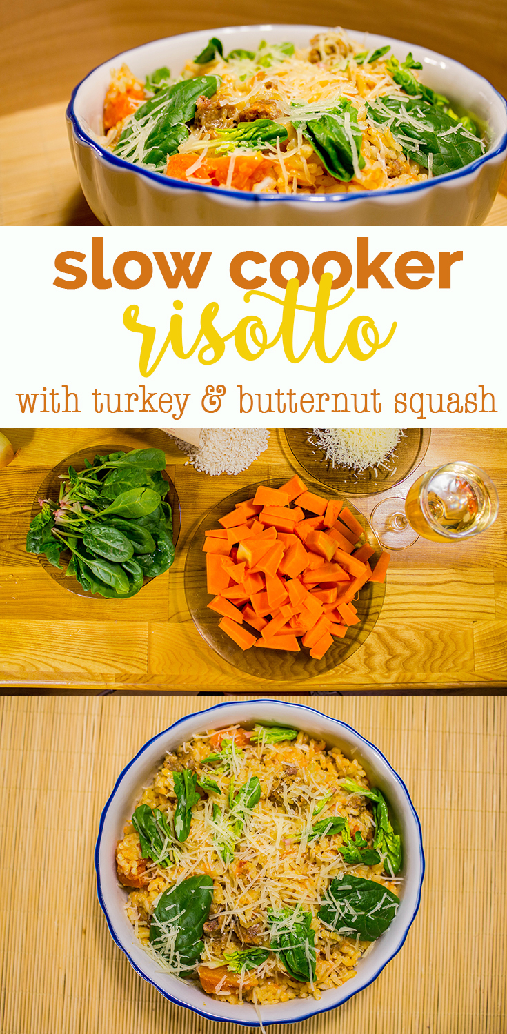 Slow cooked risotto with turkey and butternut squash recipe