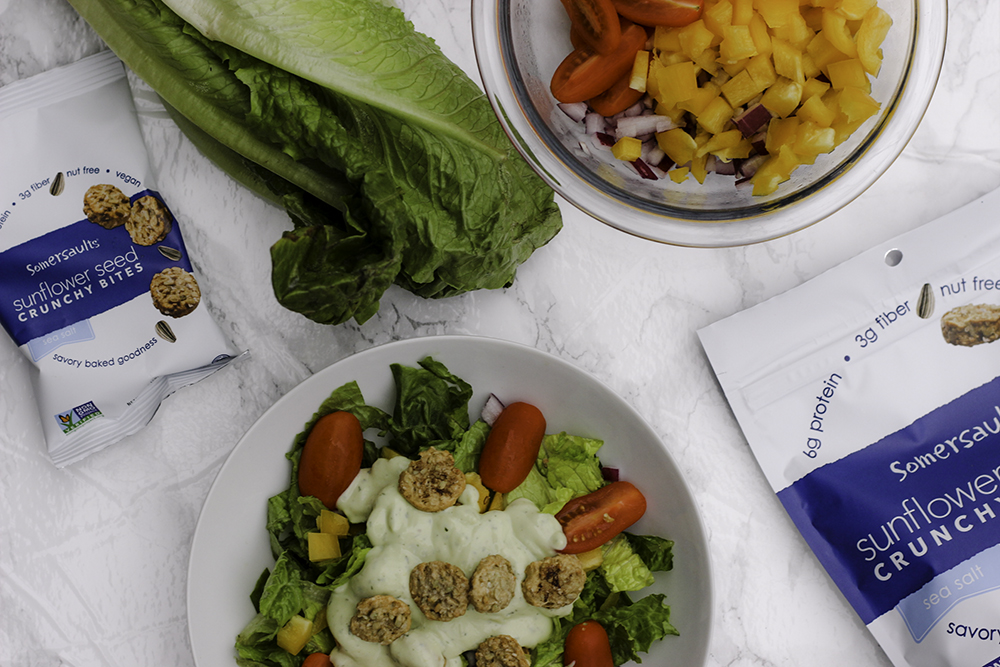 Somersaults make the best healthy croutons. Avocado ranch dressing recipe