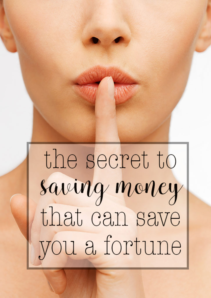 The secret to saving money that can save you a fortune