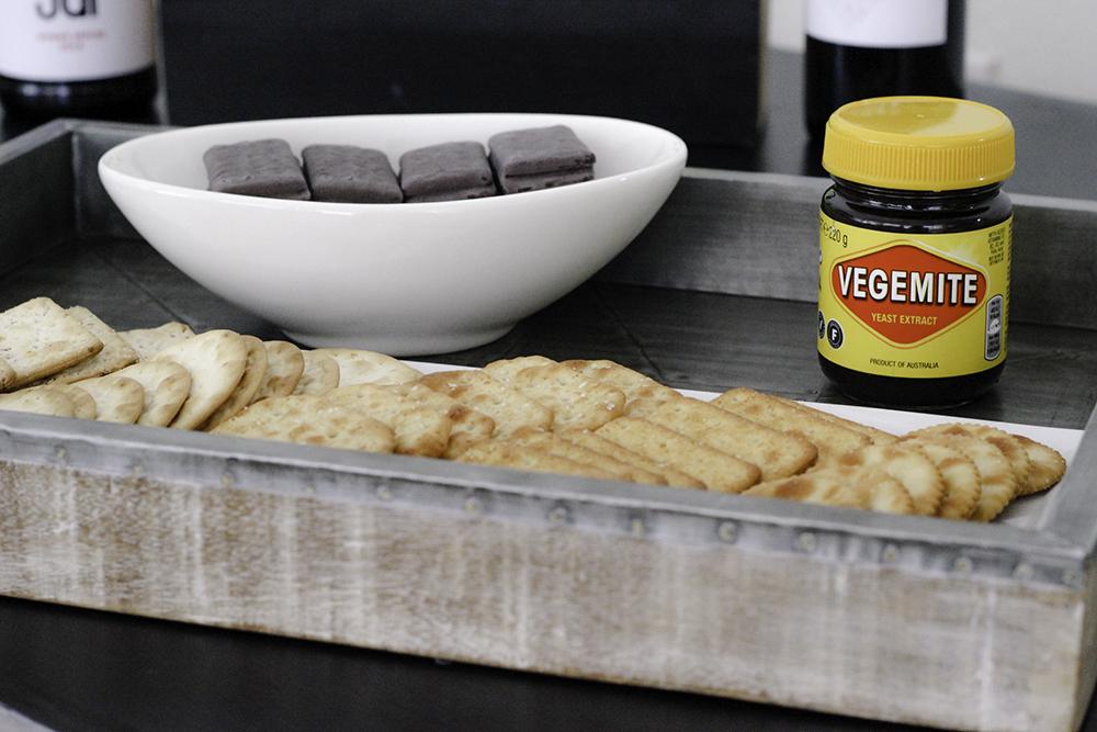 Vegemite for our taste of Australia party and shiraz tasting