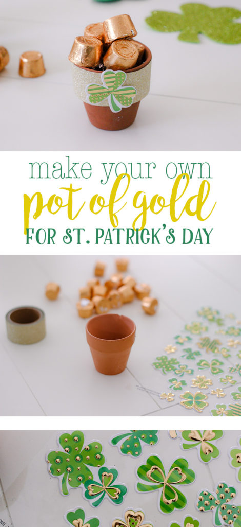Easy DIY for how to make your own pot of gold for St. Patrick's Day