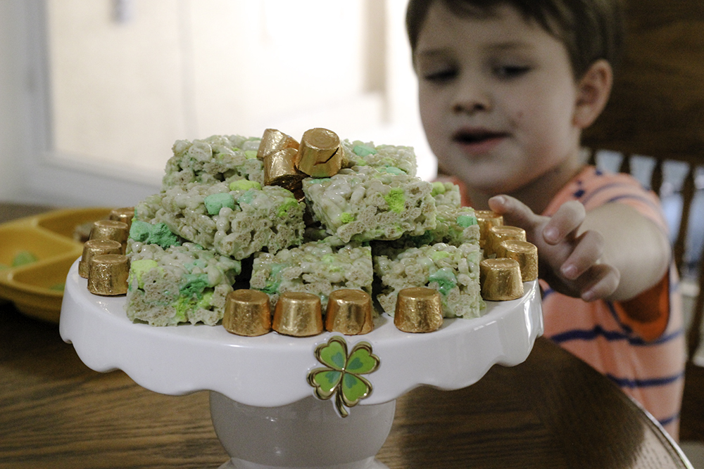 St. Patrick's Day Marshmallow treats