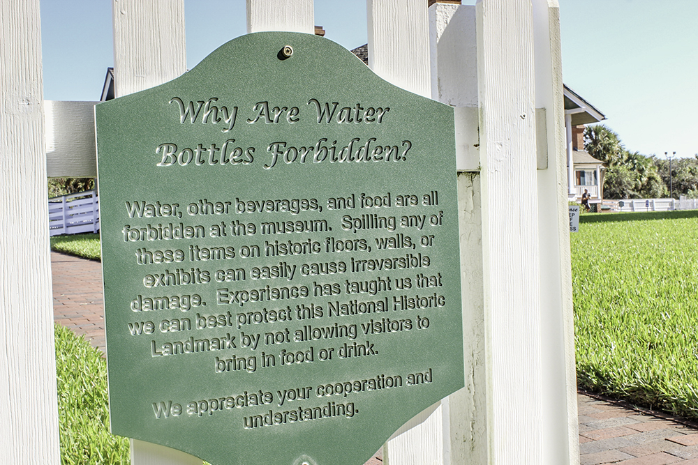 Water is forbidden at the Ponce Inlet Lighthouse