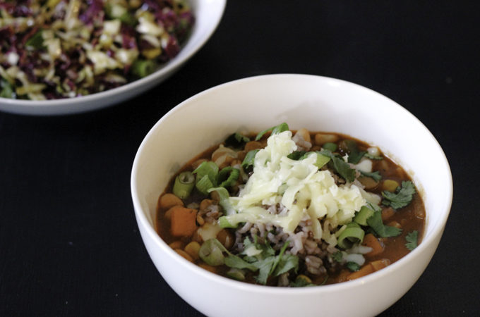 5 bean chili with green chef