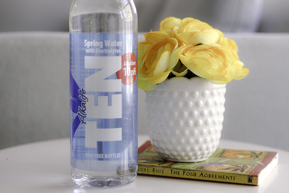 Drinking TEN water with electrolytes