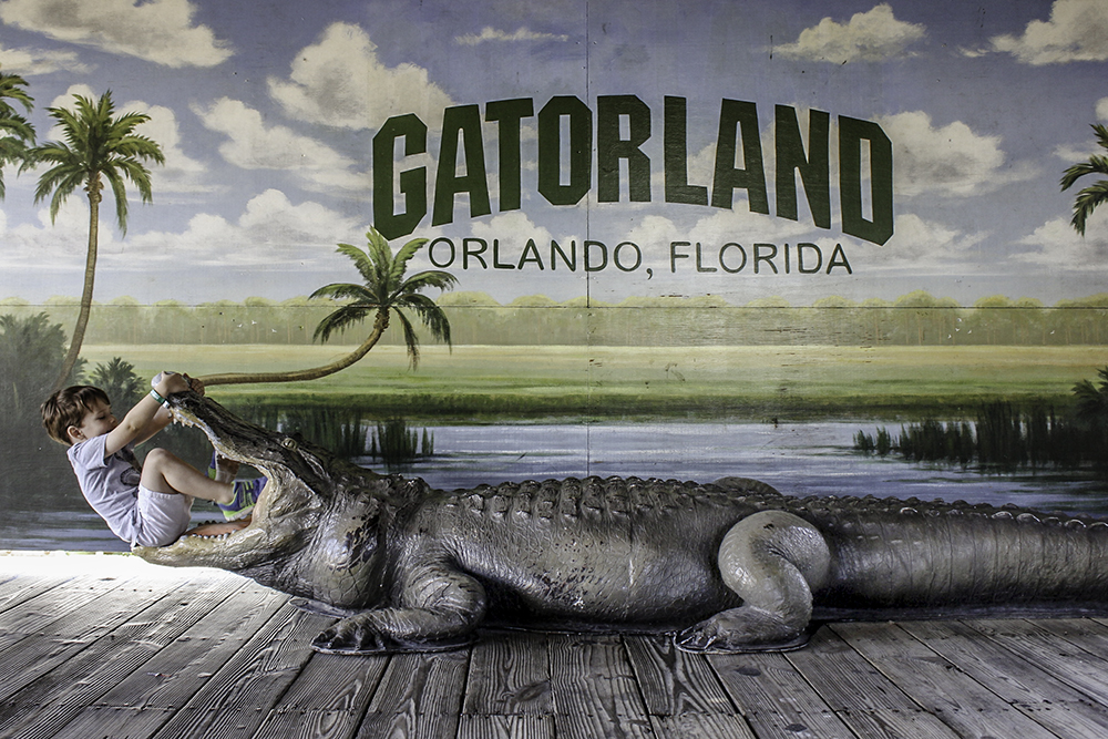 Family Activities in Orlando- Fun photo opp at Gatorland