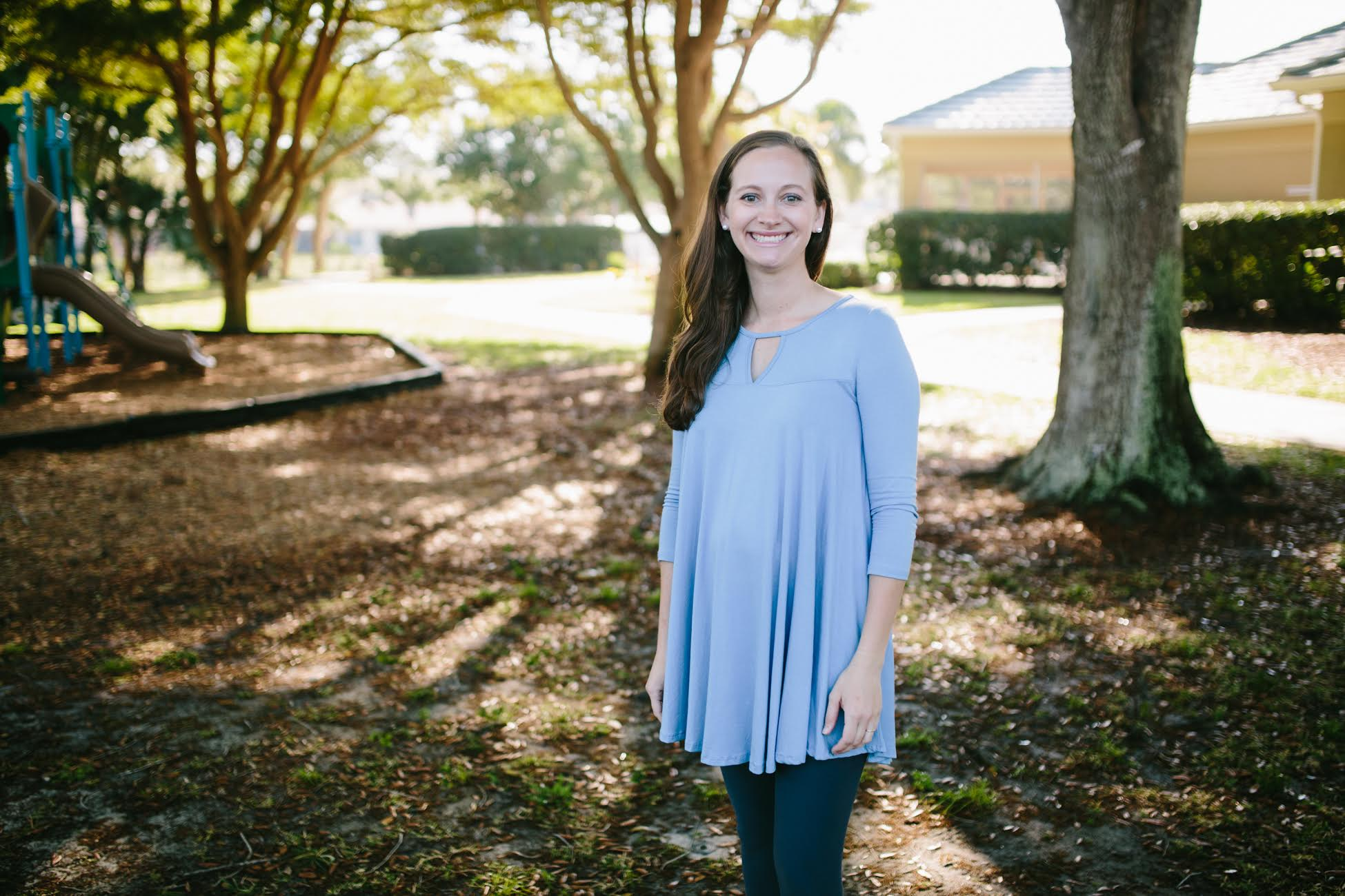 Hannah in the Cents of Style tunic