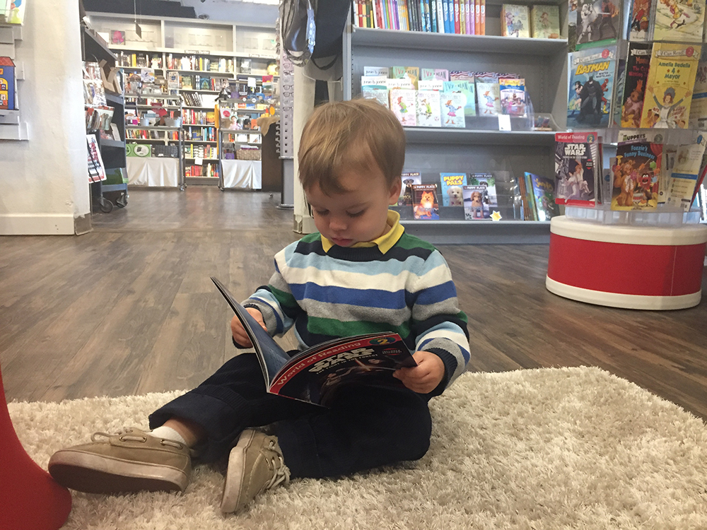 Jackson reading at Page and Palette in Downtown Fairhope