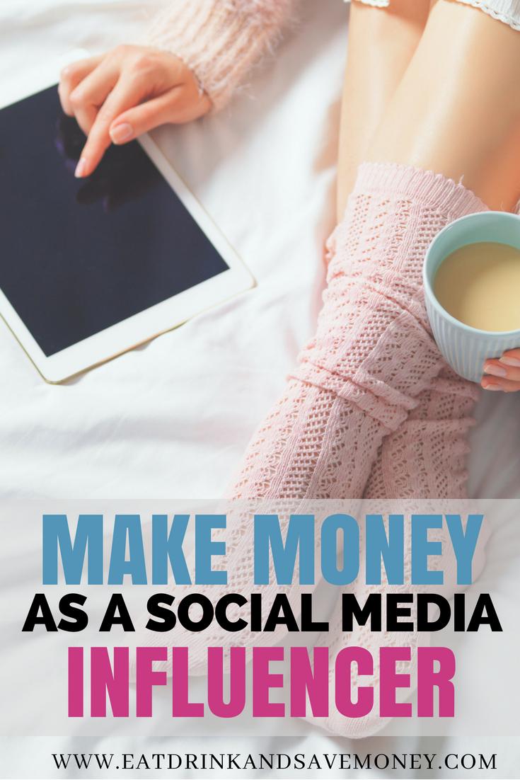 Make money online as a social media influencer. How to make money on Instagram and how to make money as a blogger. #money #sidehustle #blogger