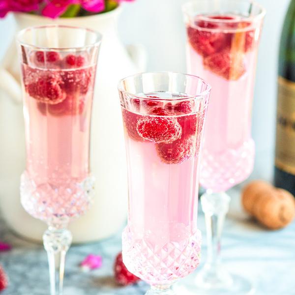 Easter Brunch Recipes- Raspberry Lemon Mimosa