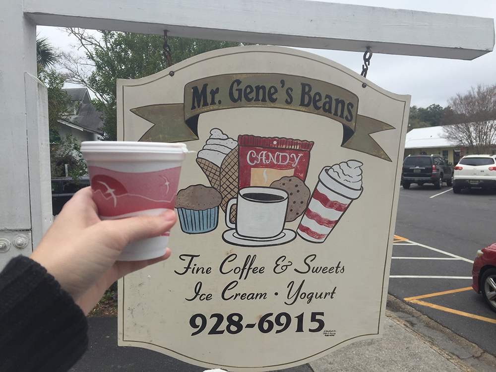 hot chocolate at Mr. Gene's Beans in Fairhope