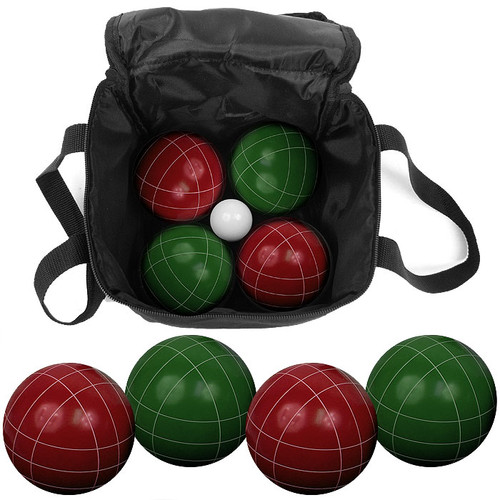 Lawn games: 9+Piece+Bocce+Ball+Set+with+Easy+Carry+Nylon+Bag