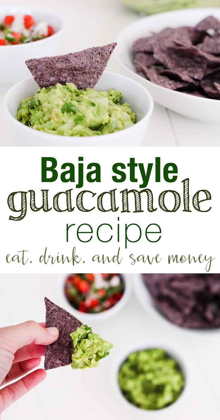 Baja Style guacamole recipe. Easy guacamole recipe. Simple guacamole recipe. Recipes for Cinco de Mayo