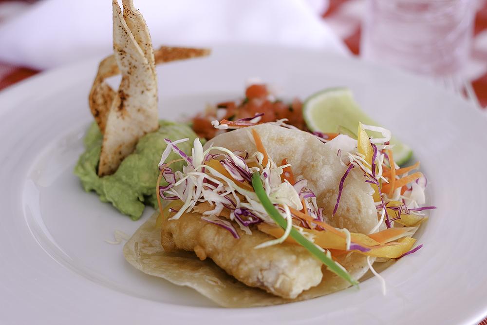 Baja fish tacos from Hacienda Encantada