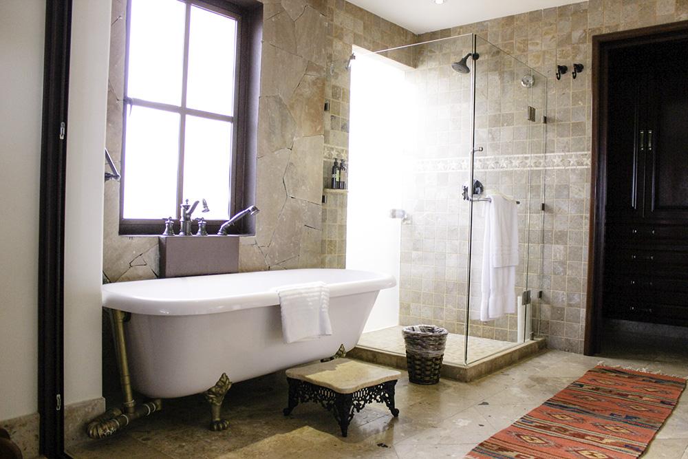 Bathroom at the residences at the Hacienda Encantada
