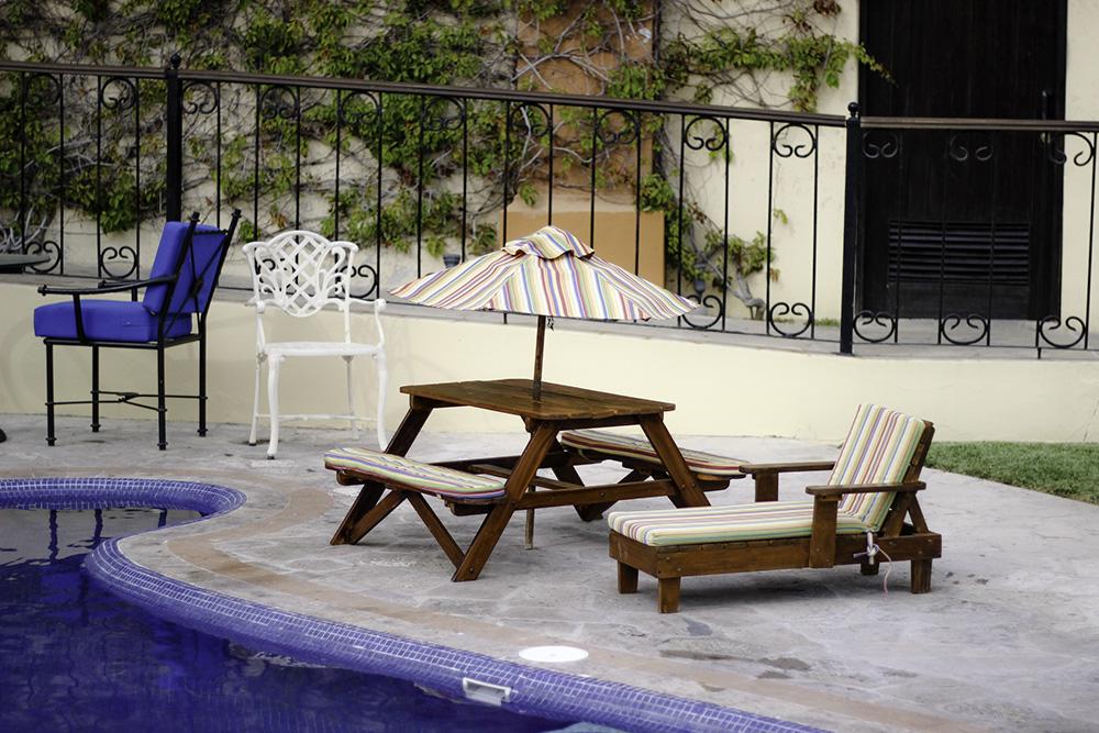 Cute kids chairs at the Hacienda Encantada