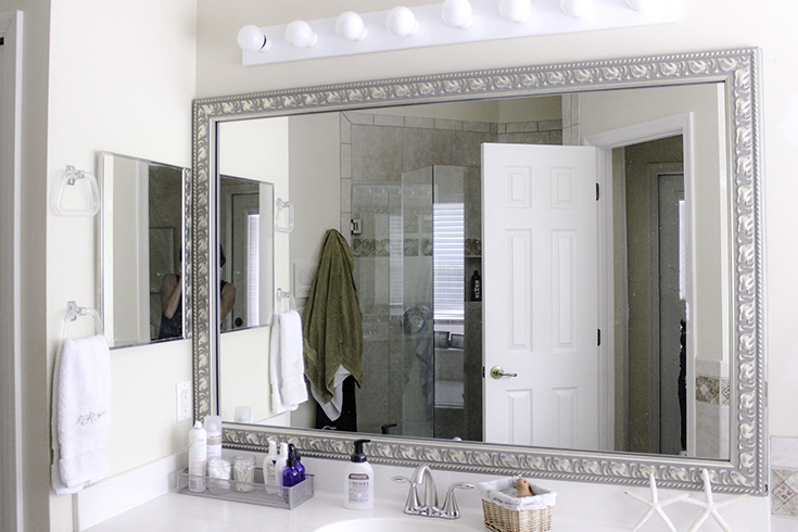mirror framing kits for bathrooms easy bathroom update with diy mirror frame kit from frame 23769
