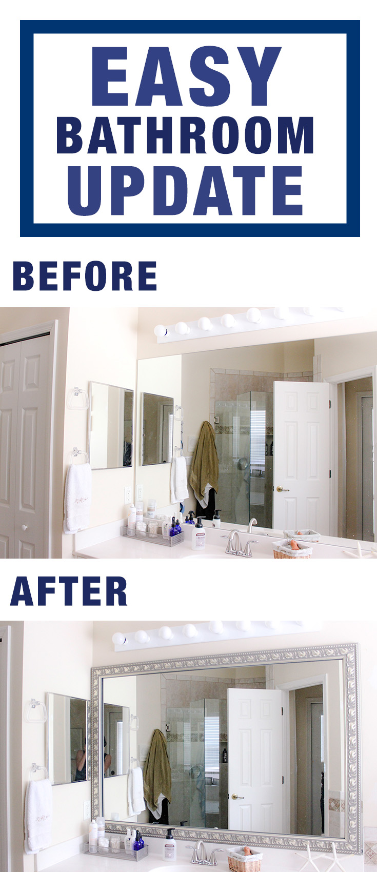 Easy bathroom update with Frame My Mirror