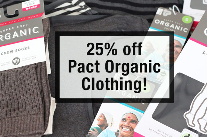 Great deal- 25% off on pact organic clothing