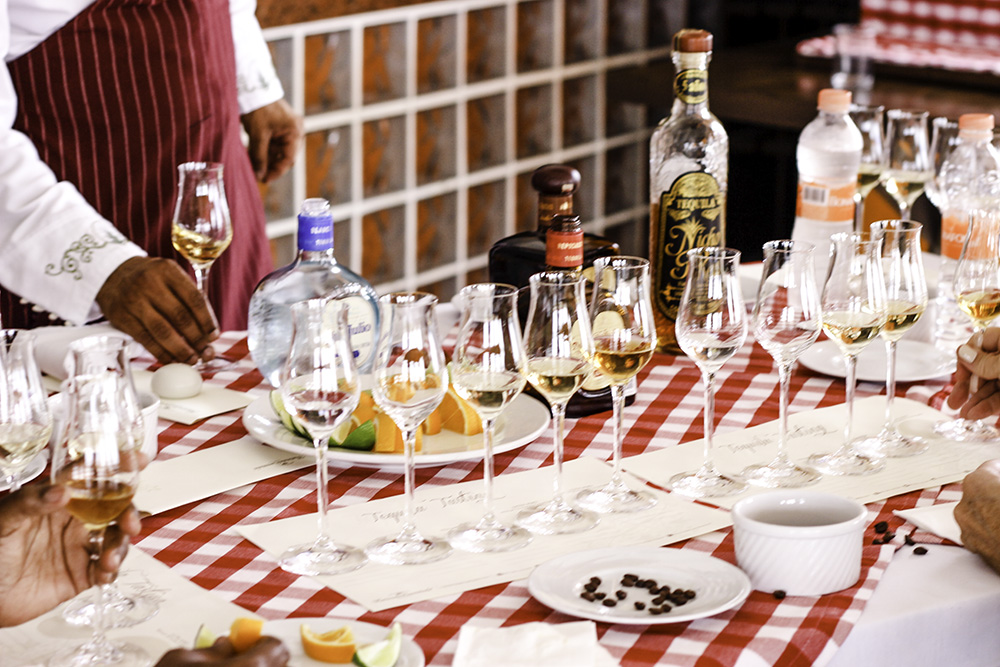 Tequila tasting at the Hacienda Encantada