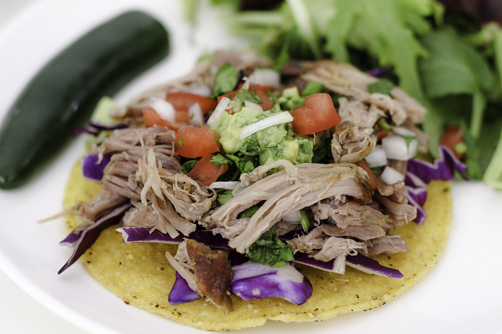 The most delicious carnitas tostadas recipe ever