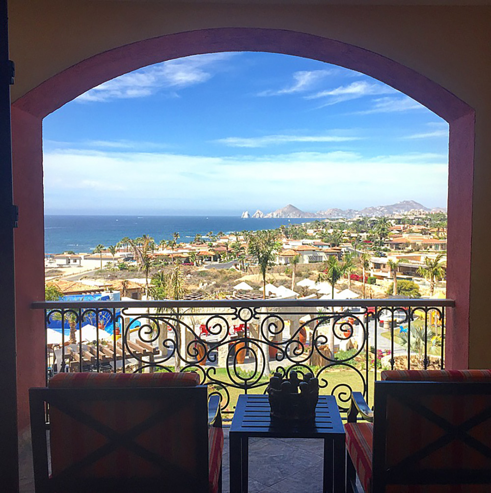 The view from my room at Hacienda Encantada