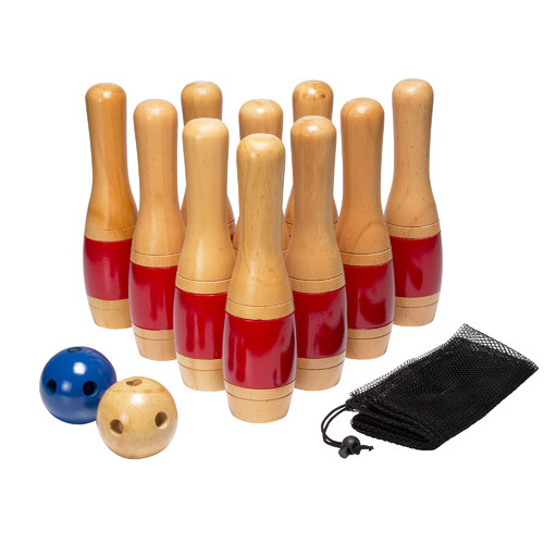 lawn games: Trademark-Games-13-Piece-Wooden-Lawn-Bowling-Set