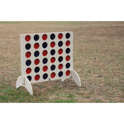 lawn games: West-Georgia-Cornhole-Giant-Connect-Four-with-Colored-Discs-Set