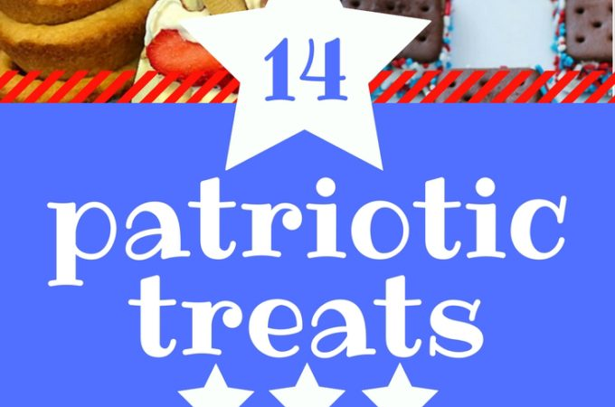 14 Patriotic treats perfect for all patriotic holidays. Memorial Day recipes, Fourth of July recipes, Labor Day recipes.