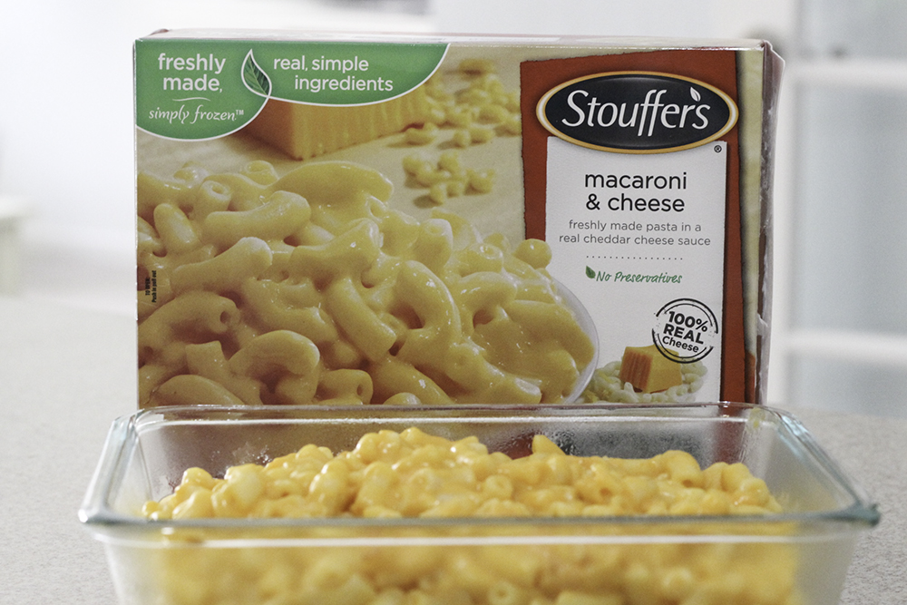 Delicious Stouffers mac and cheese