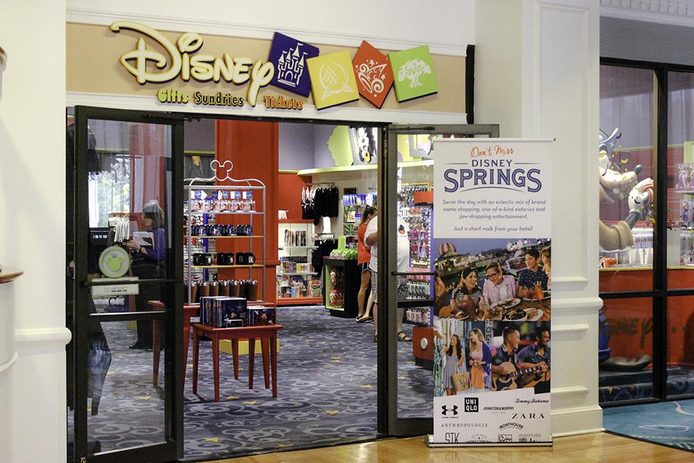 affordable Disney hotel- Disney Store in the Wyndham in Disney Springs