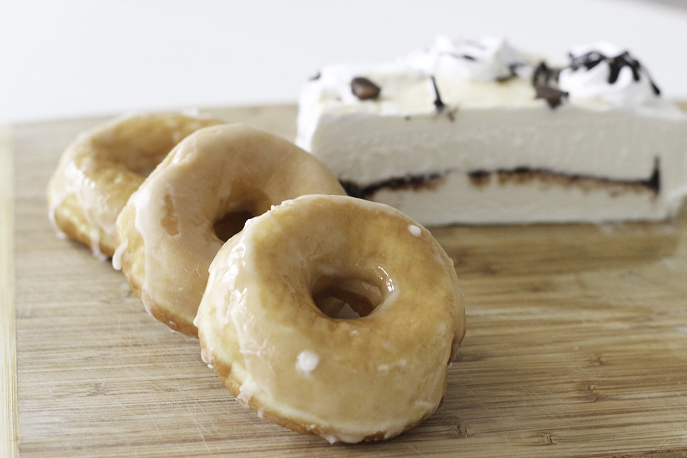 Donut ice cream sandwiches are easy to make