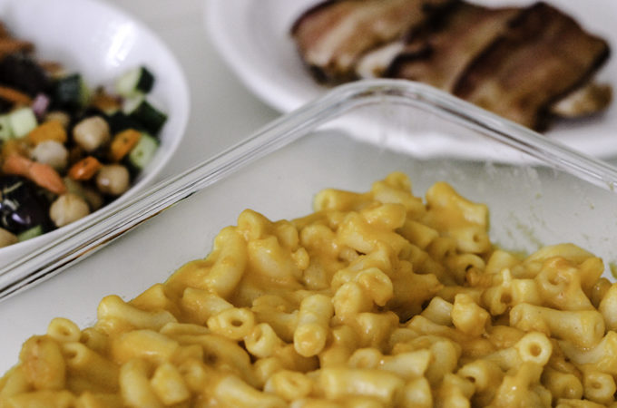 Easy dinner side dish with Stouffer's mac and cheese