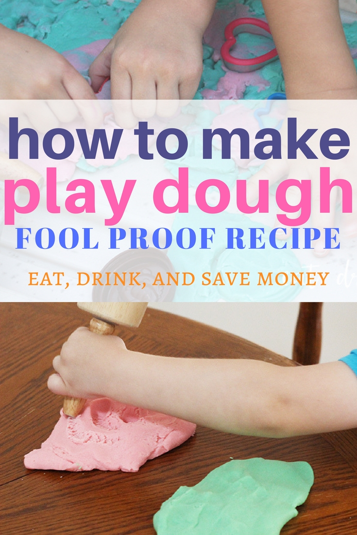 How to make play dough. Make your own play dough or playdough. This activity is a ton of fun for kids. #playdough #kids #diy
