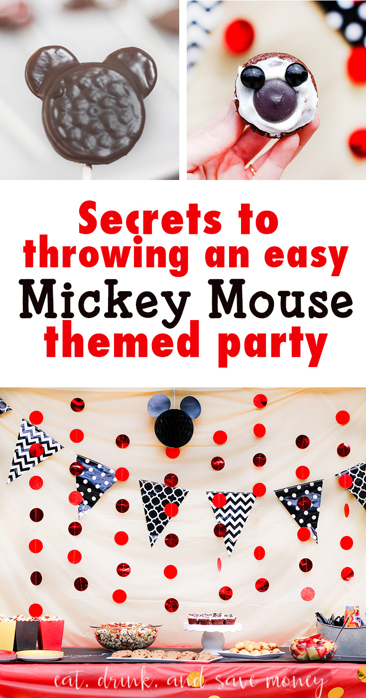 How to throw an easy Mickey Mouse themed party or mickey mouse birthday party