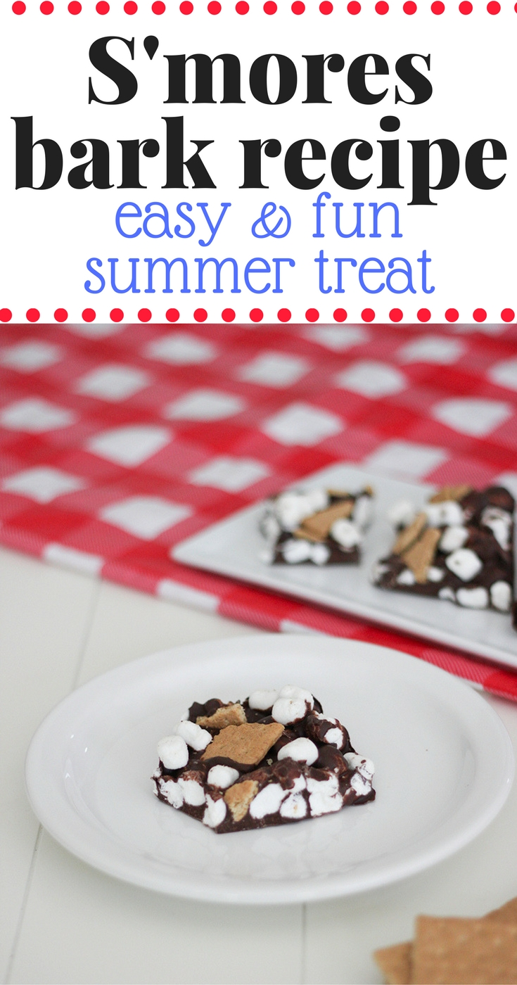 S'more bark recipe- Make this super easy and fun summer treat