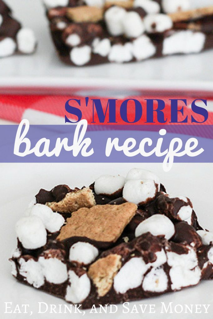 S'mores bark recipe. Smores bark recipe. How to make a smores dessert. #smores #summer #dessert #chocolate #marshmallows
