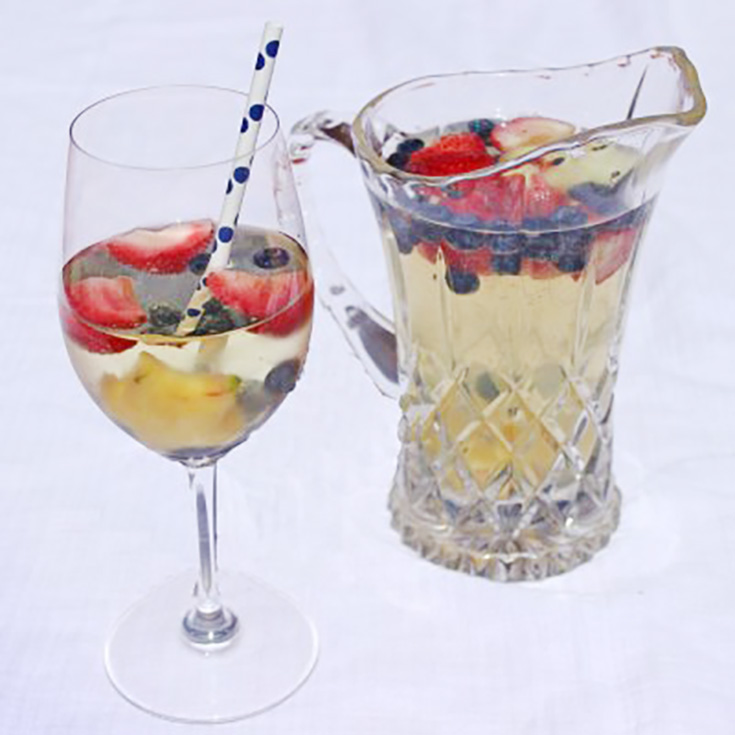 Patriotic drink recipe star spangled sangria