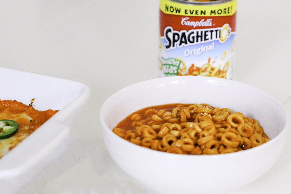 Back to school ready with spaghetti o's