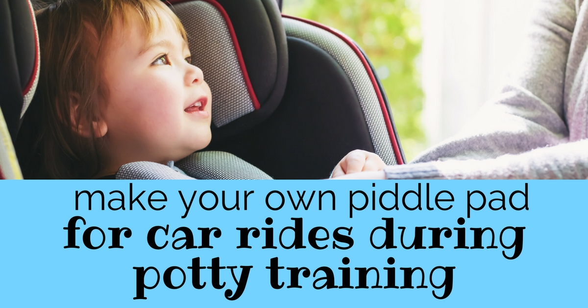 Potty Training Tip: DIY Piddle Pad for Car Rides