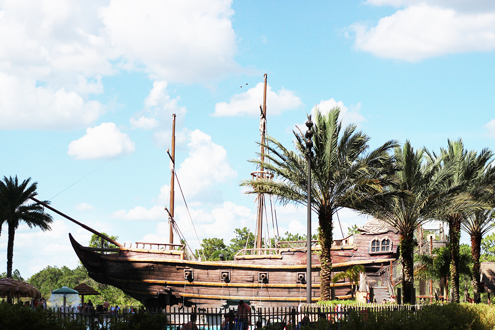 Pirate ship at Lake Buena Vista Resort Village and Spa